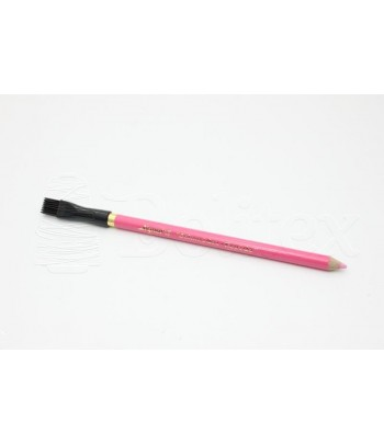 Lapis giz rosa c/escova
